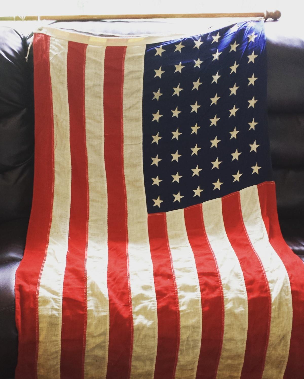 48 Stars Vintage AmericanFlag